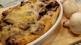 Crepes Funghi e Salsiccia al Forno - Baked mushroom and sausage crepes-Easy with Desy