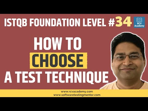 ISTQB Foundation Level #34 - Choosing a Test Technique - YouTube