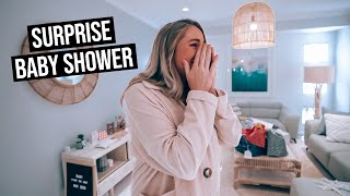 Husband Surprises Wife With Baby Shower (emotional)