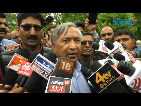 CPI (M) leader M Y Tarigami leads workers' protest against anti-labour policies