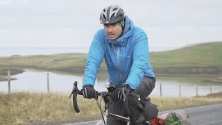 video: Britain by Bike: Battling gales and punctures in a race to beat lockdown
