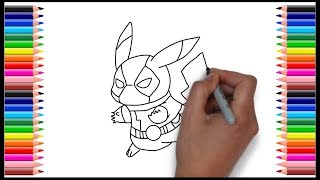 How To Draw Pokemon Pikachu Deadpool म फ त ऑनल इन