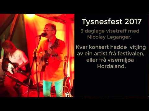Nicolay Leganger på Tysnesfest (reklame for konsertene i 2018)