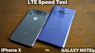 Galaxy Note 9 vs iPhone X: LTE Speed Battle