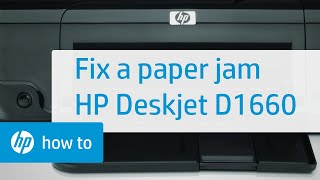 Fixing a Paper Jam - HP Deskjet D1660 Printer