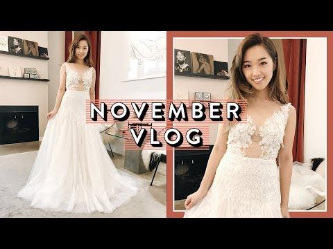 Trying On Wedding Dresses | November Vlog Pt. 1