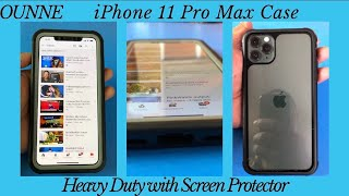 iPhone 11 Pro Max heavy duty full protective case with built-in Screen Protector by Ounne