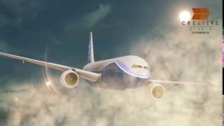 Air Plane 3D model animated background and model