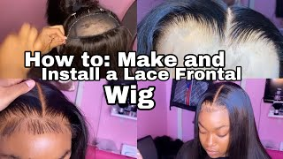 *DETAILED* How to Make and Install a Lace Frontal Wig FT. Top Notch Lux