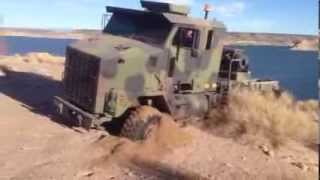 M1070 Spinning Tires In Sand