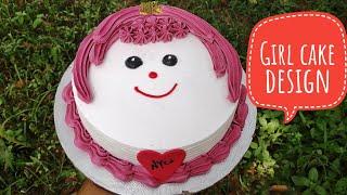 Girl Cake Design|Girl Face Cake Design|cake Decoration|cake Design