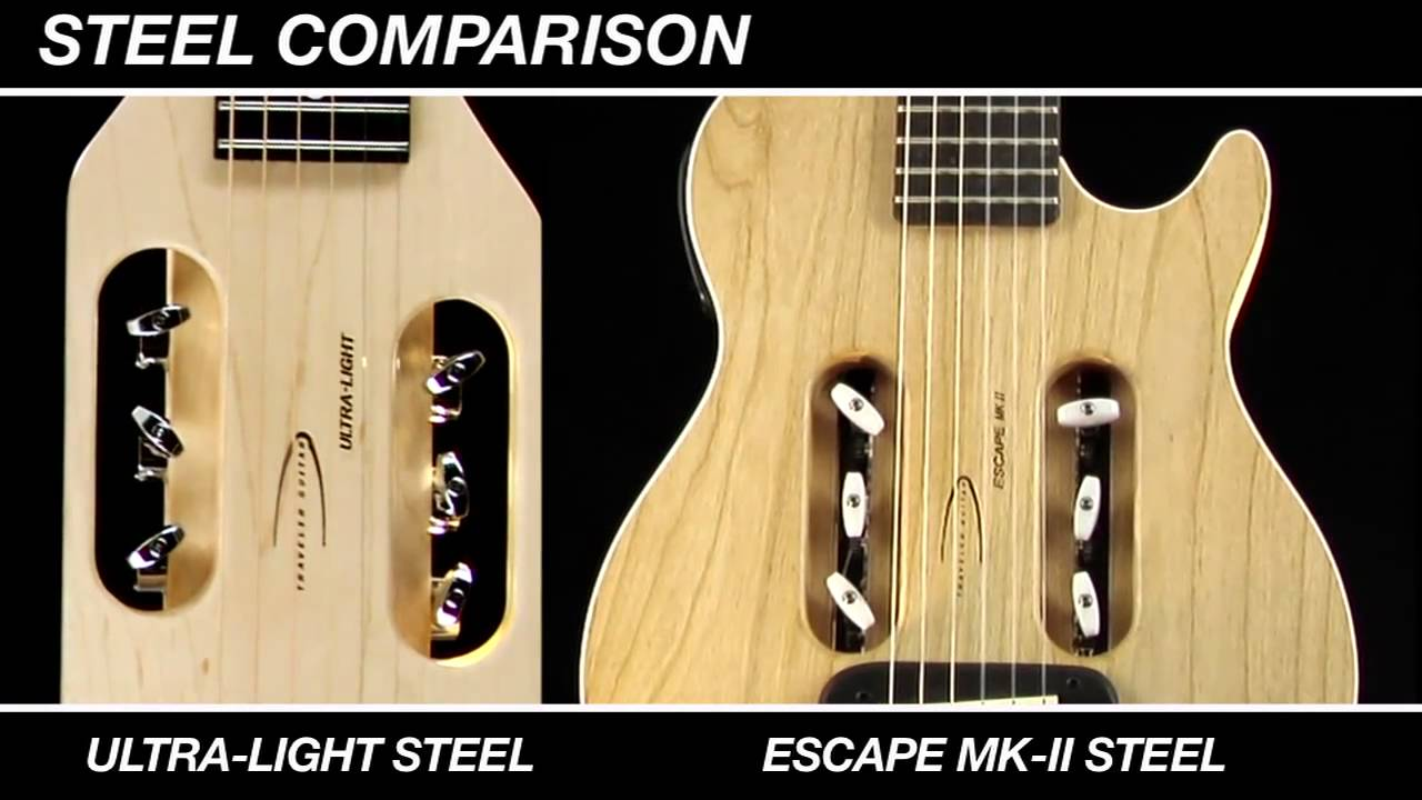 Acoustic Travel Guitar Comparison - Traveler Steel String Models