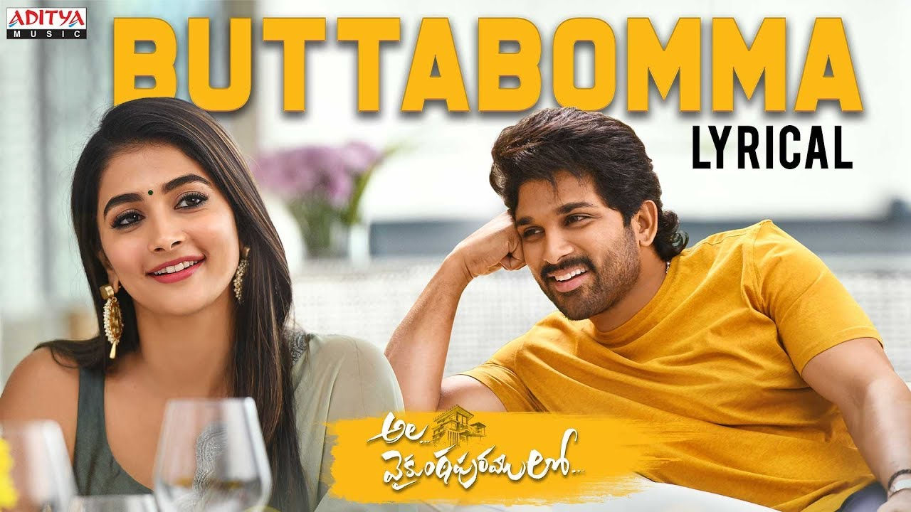 Butta Bomma Song Lyrics – Armaan Malik   Ala Vaikunthapurramloo (Film) - Armaan Malik Lyrics