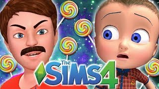 Johny Johny Yes Papa CHALLENGE | The Sims 4: Memes Theme