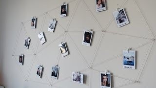 DIY Polaroid Photo Wall Display