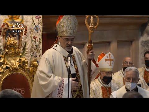 Première Messe du Patriarche latin de Jérusalem au Saint-Sépulcre
