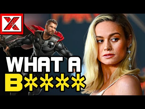 Brie Larson Goes CRAZY on Chris Hemsworth, Captain Marvel Gone To This B's Head