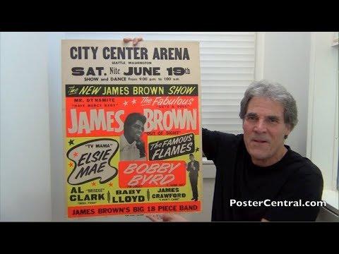 James Brown Window Card 1965 Papa S Got A Brand New Bag