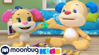 Laugh and Learn with Fisher Price - Puzzle Song! | Educational Cartoons for Kids | Moonbug Kids TV
