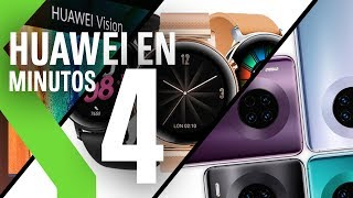 RESUMEN de Huawei en MENOS de 4 MINUTOS: Mate 30 sin Google Apps, GT2, Freebuds 3 y Huawei Vision