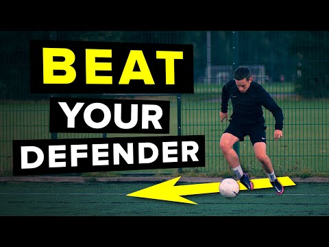 Use THIS first touch skill to beat your defender | Tutorial