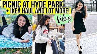 Picnic at HYDE PARK ,Ikea tour + Haul! Weekend Vlog!