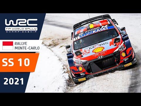WRC 2021 トヨタのエバンスがトップ 開幕戦のラリーモンテカルロ SS10ハイライト動画