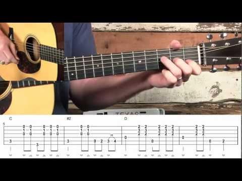 Guitar Rhythm Bag O' Licks C to D Chord Transitions!