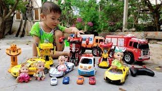 Đi Săn Siêu Xe Ô Tô Transformer Car ❤ ChiChi TV ❤ Đồ Chơi Trẻ Em