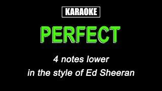 Karaoke   Perfect (Lower Key)   Ed Sheeran