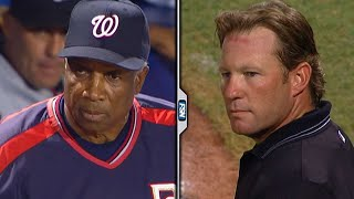 Frank Robinson, Umpire Jim Wolf Engage In Tense Staredown