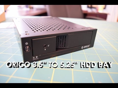 ORICO Tool Free 3.5″ to 5.25″ Hard Drive Bay (1105SS) Unboxing, Installation, Overview