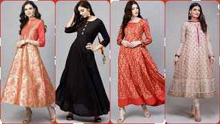 Latest Top 55 Long Gown Cotton,,Linen Frocks Maxi Dresses For Girls