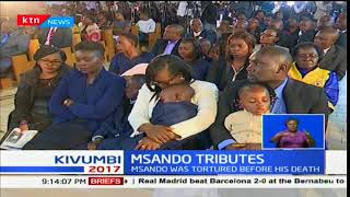Anyang' Nyong'o leads the nation in paying tribute to Chris Msando  during the requiem mass