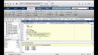 Intro to MATLAB - Week 2 - Example 1: Creating arrays