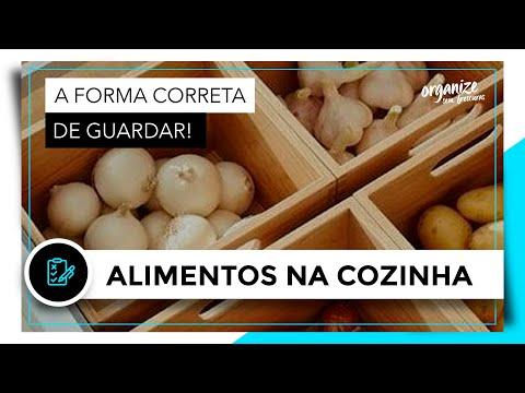 A FORMA CORRETA DE GUARDAR OS ALIMENTOS NA COZINHA