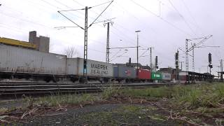 preview picture of video '285 102-0 HVLE mit Containerzug durch Lehrte'