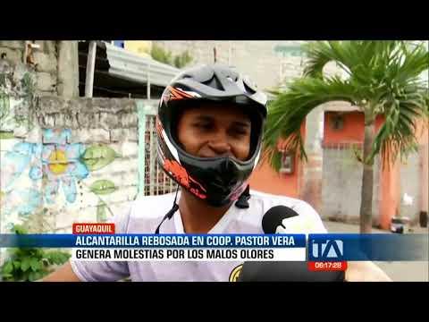 Denuncias ciudadanas: Alcantarilla rebosada en Guayaquil