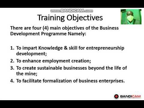 BUSINESS DEVELOPMENT TRAINING PROGRAMME ... - YouTube