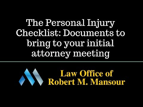 Santa Clarita car accident lawyer discusses his personal injury checklist