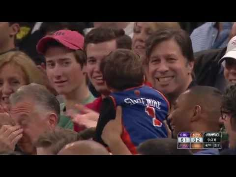 Video Referee Mike Callahan Gives a Young Knicks Fan a Souvenir