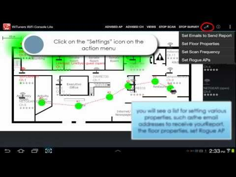 Video of WiFi Site Survey by WiTuners