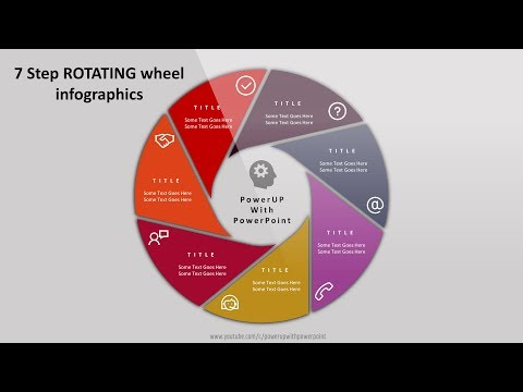 6 create 5 steps rotating wheel infographic powerpoint presentation