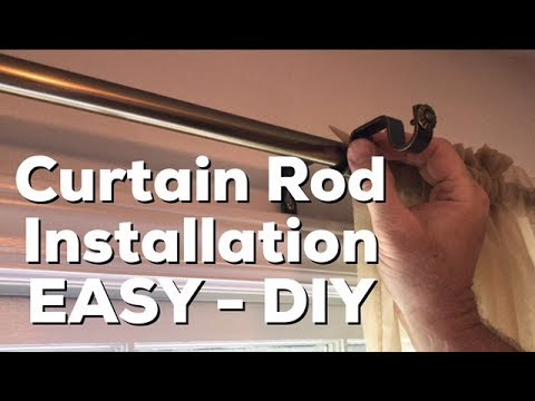 Installing Curtain Rod - Hang Curtain Rod - EASY DIY - How to