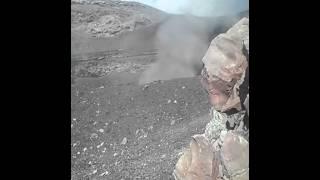 Jóvenes habrían alcanzado el cráter del Popocatépetl.