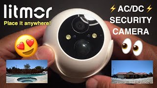 Litmor Battery Security Camera Review - AC/DC 1080p Wireless and cordless!!