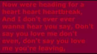 Boys Like Girls - Heart Heart Heartbreak - Lyrics