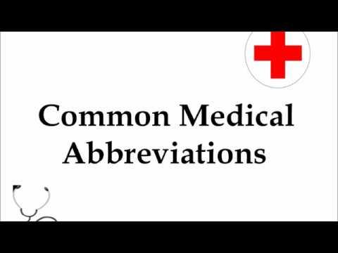 mp4 Medical Abbreviation, download Medical Abbreviation video klip Medical Abbreviation