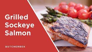 Grilled Sockeye Salmon With Peppadew Butter
