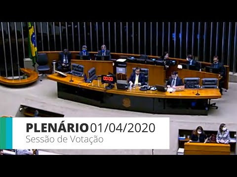 Plenário – Sessão virtual de votação – 01/04/20